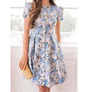 GAL MEETS GLAM Margaret Poppy Jacquard Dress 12